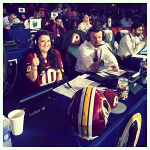 Cara from Stanton Communications on a red skins game
