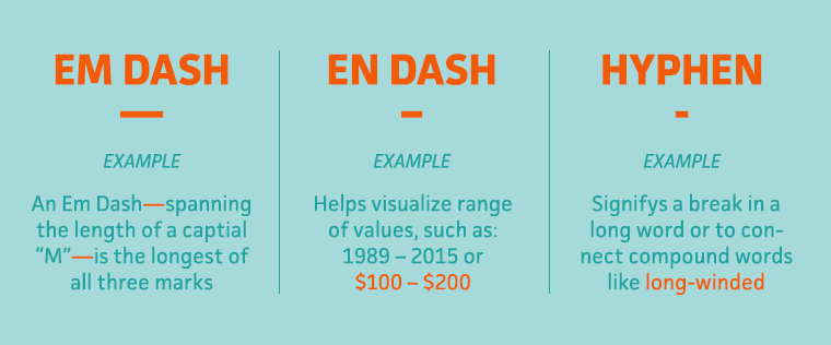 how to write a dash in word