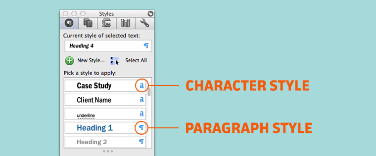 Microsoft Office Word Style Types
