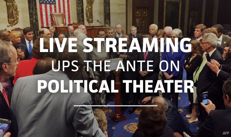 Live Streaming House of Representatives Gun Control Sit-in