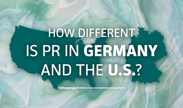 PR in U.S. versus Germany